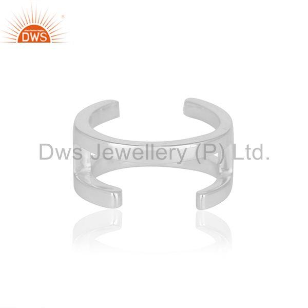 H Eternity 925 Sterling Silver Ring Band Silver Jewelry Manufacturer