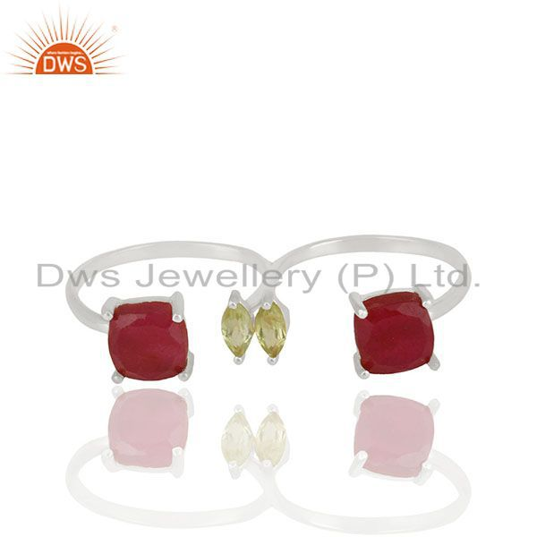 Handmade 925 Sterling Fine Silver Gemstone Ring Jewelry Wholesale