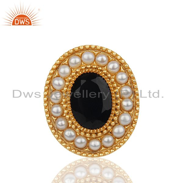 Indian Traditional Gold Plated 925 Silver Customized Ring Manufacturer