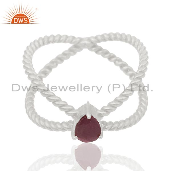 Ruby Gemstone 925 Silver Handmade Gold Plated Silver Birthstone Ring