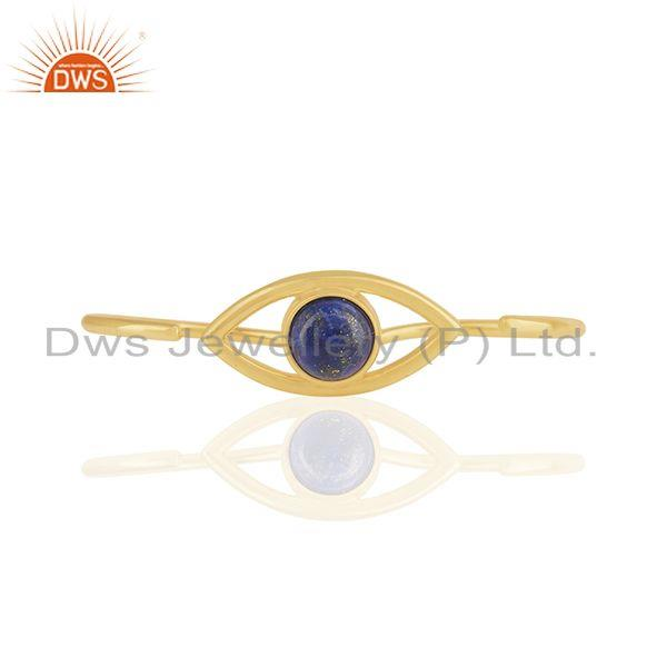 Handmade 18k Gold Plated 925 Silver Evil Eye Design Multi Finger Ring