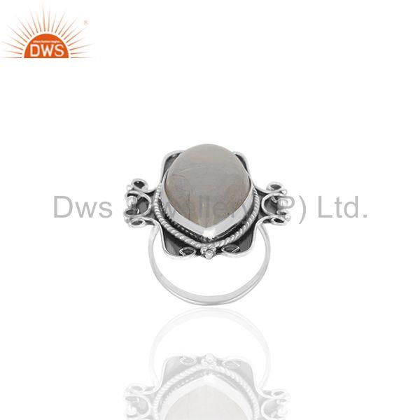 Indian Handmade 925 Silver Oxidized Moonstone Women Ring Manufacturer