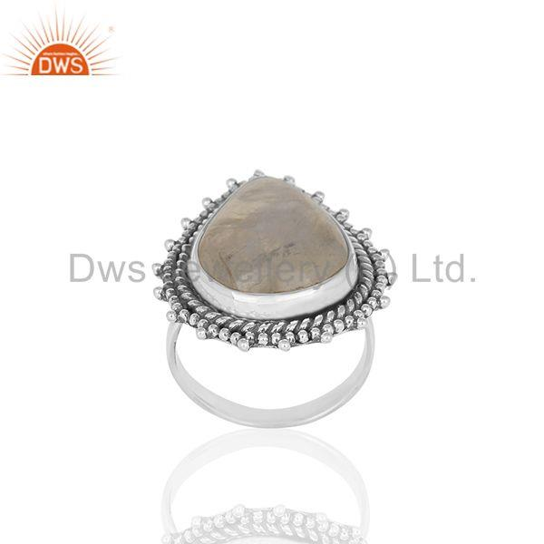 Designer Sterling Silver Rainbow Moonstone Girls Rings Jewelry Manufacturers