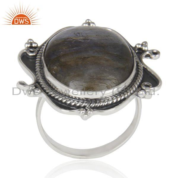 Designer 925 Sterling Silver Natural Labradorite Gemstone Ring Manufacturer