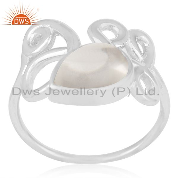 Crystal Quartz Designer Sterling Silver Gemstone Ring Manufacturer