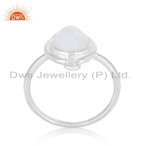 925 Silver Designer Crystal Quartz Ring Custom Jewelry Manufacturer