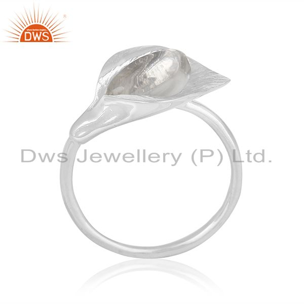 Sterling Silver Floral Design Crystal Custom Ring Jewelry Manufacturer Wholesale