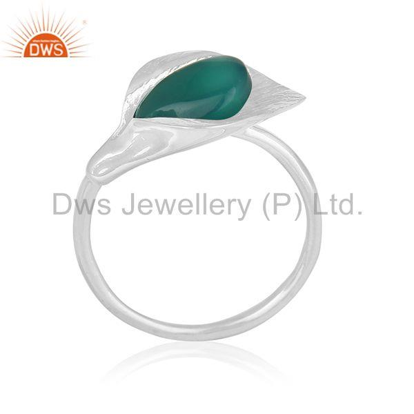 Designer 925 Silver Green Onyx Gemstone Private Label Ring Jewelry Wholesale
