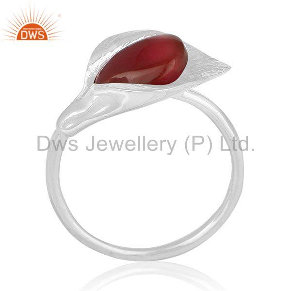 Red Onyx Gemstone New Designer Sterling Silver Ring Wholesale Suppliers