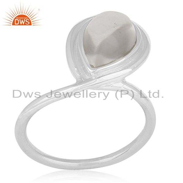 Crystal Quartz Sterling Silver Private Label Ring Manufacturer for Brands