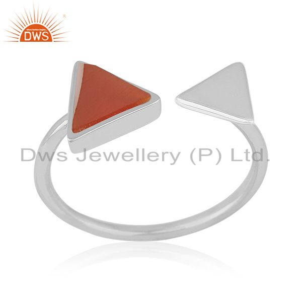 Handmade 925 Silver Adjustable Ring Custom Jewelry Manufacturer