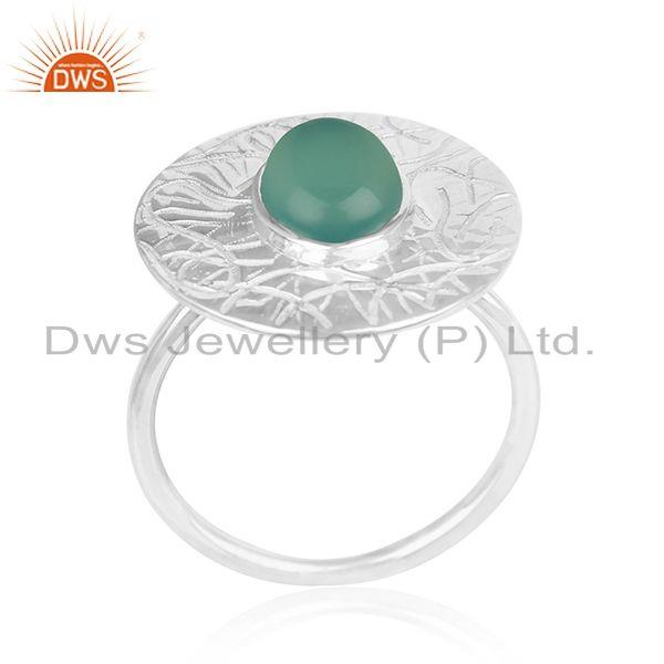 Green Onyx Gemstone 925 Silver Handmade Cocktail Ring Manufacturers
