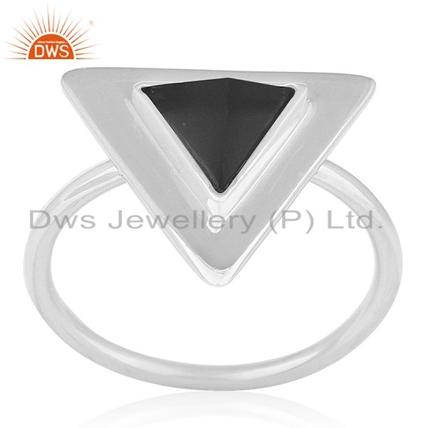 Black Onyx Gemstone 92.5 Silver Private Label Ring Jewelry Wholesale