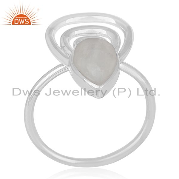 Rainbow Moonstone 925 Silver Private Label Ring Manufacturer Jaipur