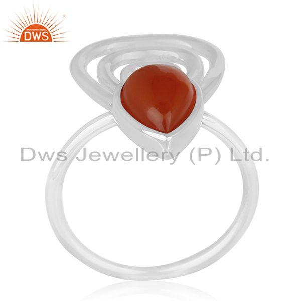 New Designer 925 Silver Chalcedony Gemstone Ring Supplier for Brands