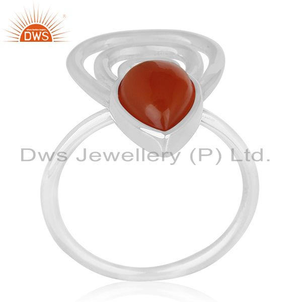 Red Onyx Gemstone 925 Silver Customized Ring Jewelry Manufacturers