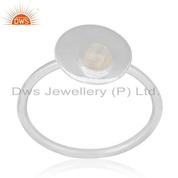 Handmade Sterling Silver Rainbow Moonstone Ring Manufacturers