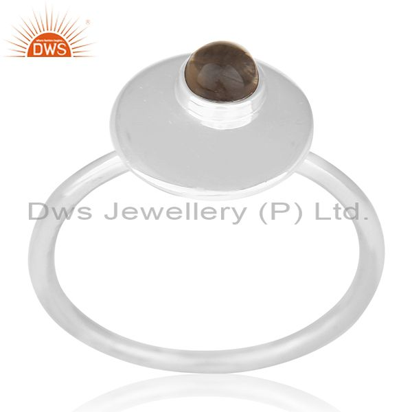 Bezel Set Gemstone 925 Silver Handmade Quartz Ring Wholesale Supplier from India
