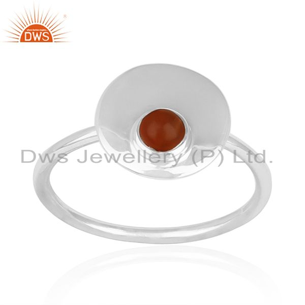 Red Onyx Gemstone 925 Silver Ring Manufacturer of Custom Jewelry