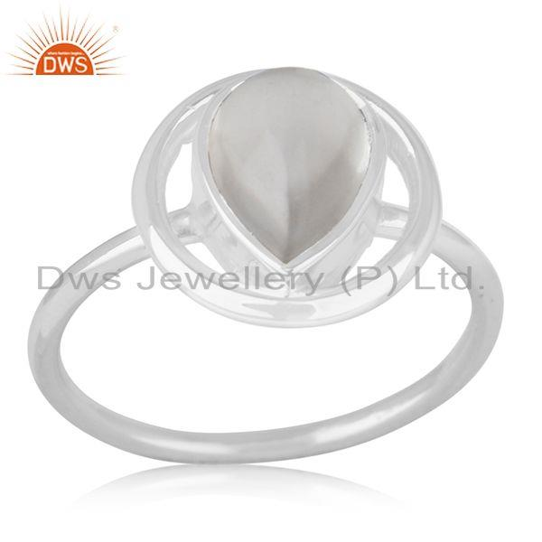92.5 Sterling Silver Crystal Quartz Ring Private Label Jewelry India