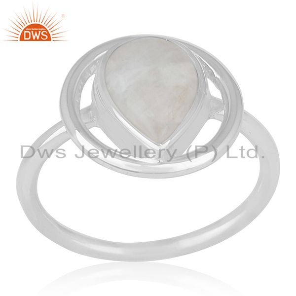Rainbow Moonstone Sterling Silver Designer Ring Wholesale Jewelry