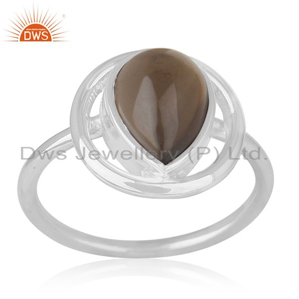 Smoky Quartz Sterling Silver Ring Manufacturer of Custom Jewelry