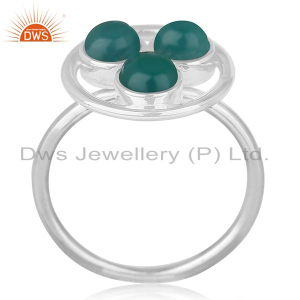 Green Onyx Gemstone 925 Sterling Silver Ring Manufacturer of Custom Jewelry