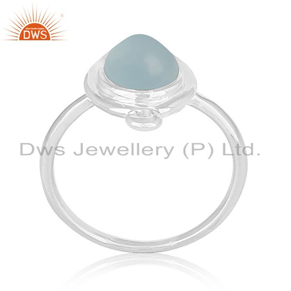Chalcedony Gemstone Sterling 925 Silver Ring Women Jewelry Suppliers