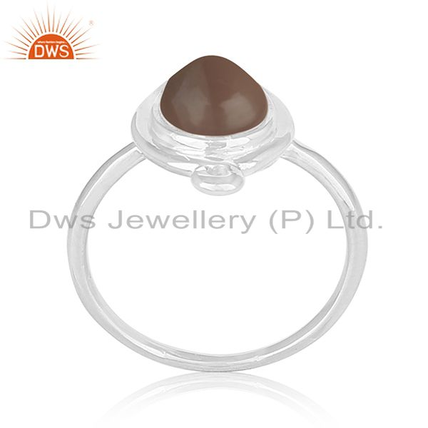Private Label Smoky Quartz 925 Silver Ring Jewellery Manufacturers