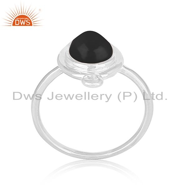 Black Onyx Gemstone 925 Silver Ring Jewelry Manufacturer for Brands