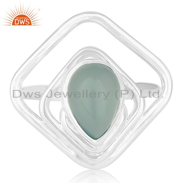 Designer Sterling Silver Chalcedony Gemstone Ring Jewellery Wholesale