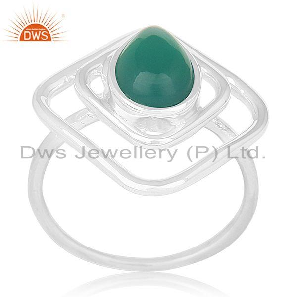 Green Onyx Gemstone 925 Sterling Silver New Design Ring Manufacturers