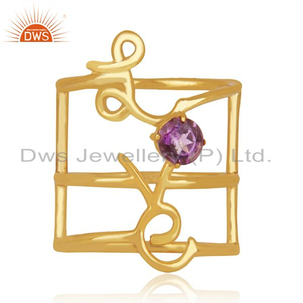 Gold Plated Sterling Silver Initial Love Customized Ring Manufacturer