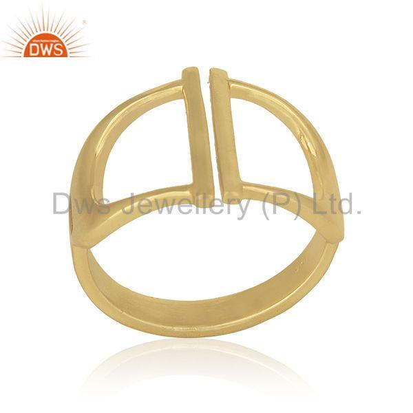 New Designer Sterling 92.5 Silver Gold Plated Ring Wholesale Suppliers