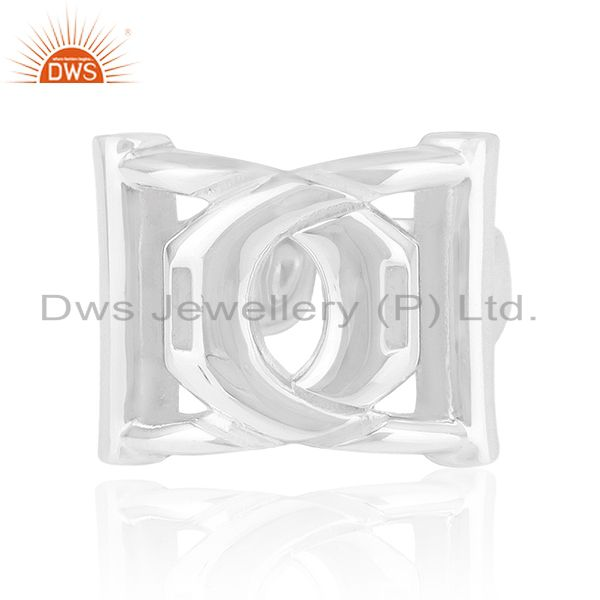Solid 925 Sterling Silver Designer Unisex Ring Jewelry Manufacturer from India