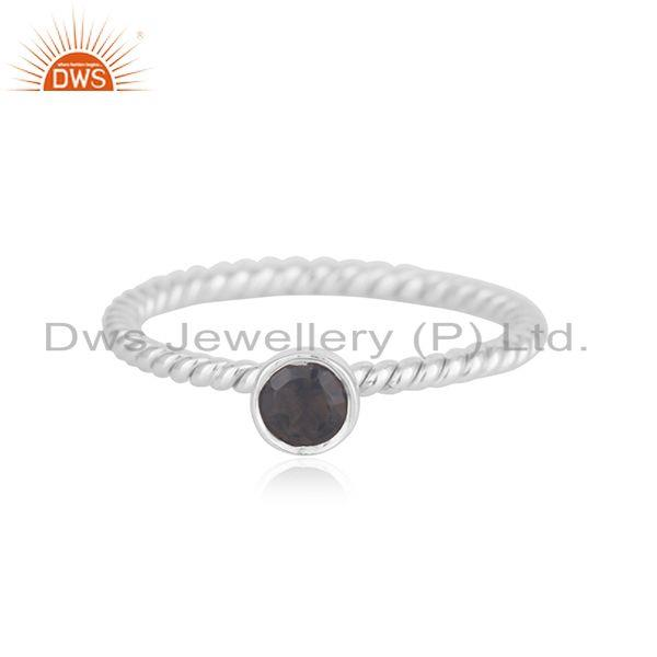 Handmade Fine Sterling Silver Smoky Quartz Gemstone Ring Manufacturer