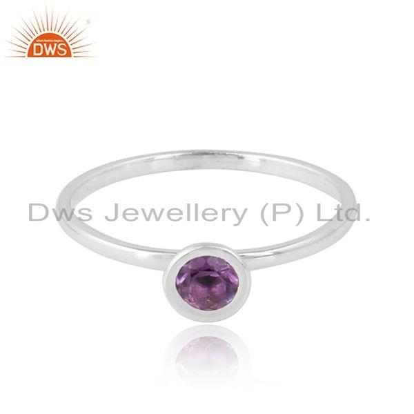 Natural Amethyst Gemstone Handmade 925 Sterling Silver Rings