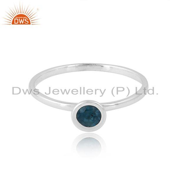 925 Sterling Silver London Blue Topaz Gemstone Girls Ring Jewelry
