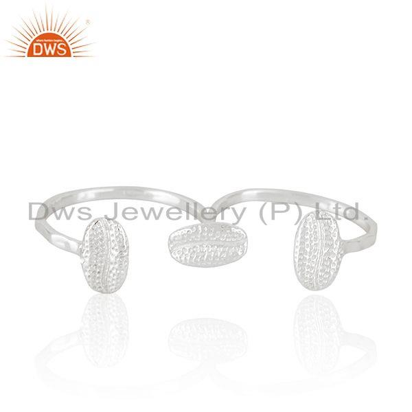 Wholesale Fine Silver Designer Double Finger Ring Jewelry