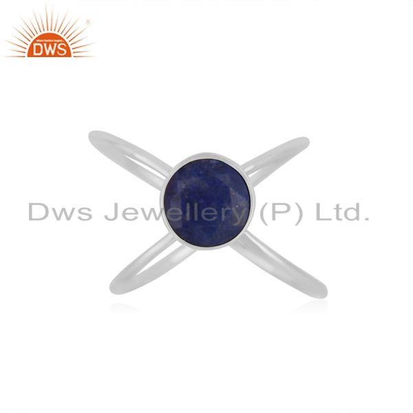 Lapis Lazuli Gemstone 925 Sterling Fine Silver Handmade Ring Wholesale Suppliers