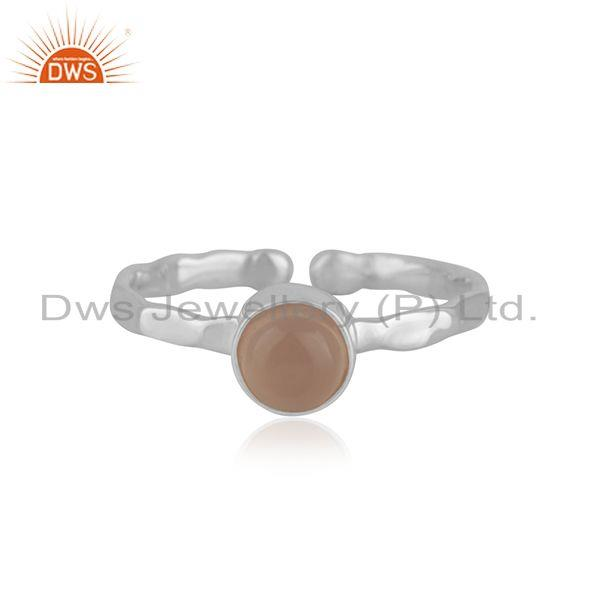 Rose Chalcedony Gemstone Fine Sterling Silver Ring Wholesale