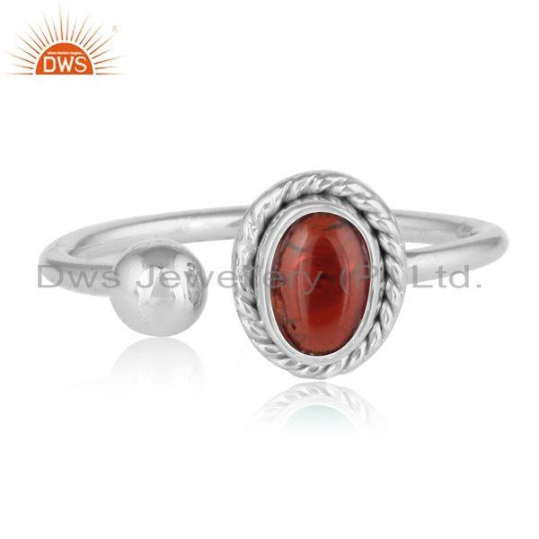 Garnet gemstone girl sterling silver designer girls rings jewelry
