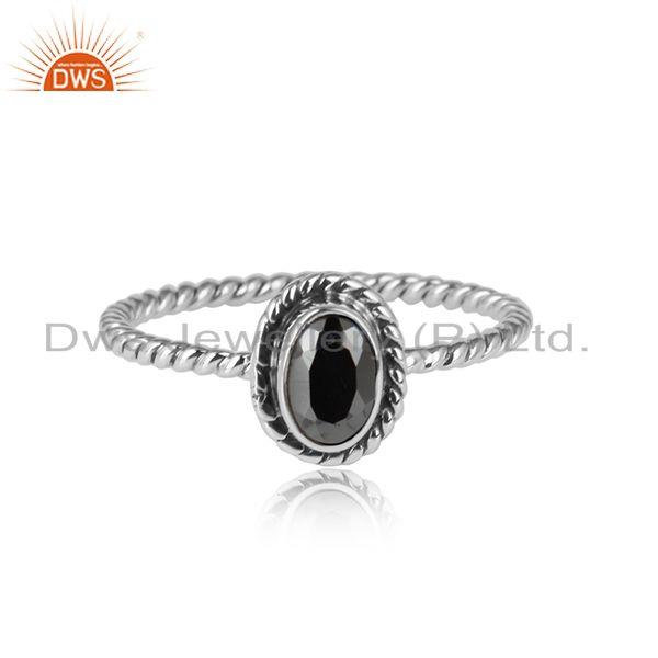 Pyrite gemstone oxidized 925 streling silver handmade ring jewelry