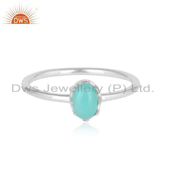 Arizona Turquoise Gemstone Designer Sterling Silver Womens Rings