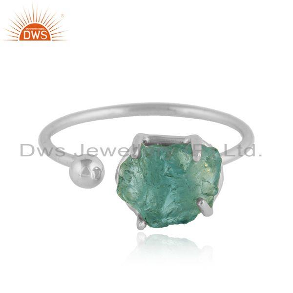 Designer 925 Sterling Fine Silver Apatite Gemstone Ring Jewelry