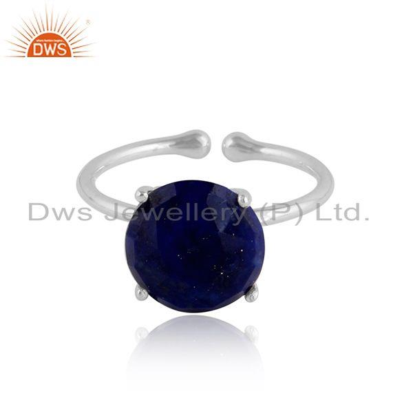 Lapis Lazuli Gemstone  Handmade Sterling Silver Ring Jewelry