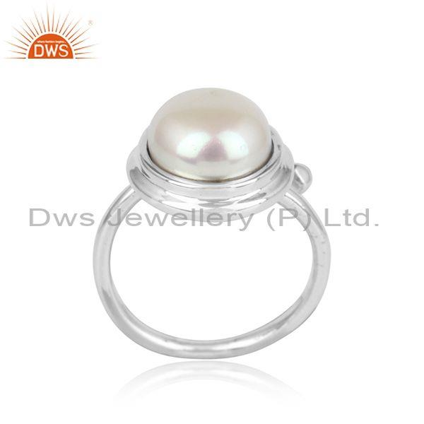 Handmade Designer Sterling Silver 925 Ring with Pearl