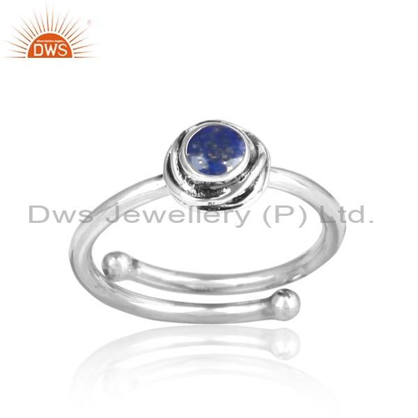 Cool Blue Lapis Set Sterling Silver Ring For All Sizes