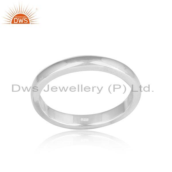 Simple designer fine 925 sterling silver band ring jewelry