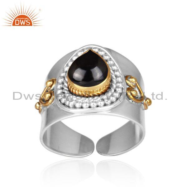Black spinal set fine 925 silver handmade traditional ring